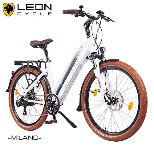 NCM-Milano-201626-Zoll-Elektrofahrrad-HerrenDamen-Unisex-PedelecE-BikeTrekking-Rad-36V-250W-14Ah-Lithium-Ionen-Akku-mit-PANASONIC-Zellen-matt-wei