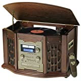 Innovative Technology ITRR-501 5-in-1 Wooden Recordable Music Center