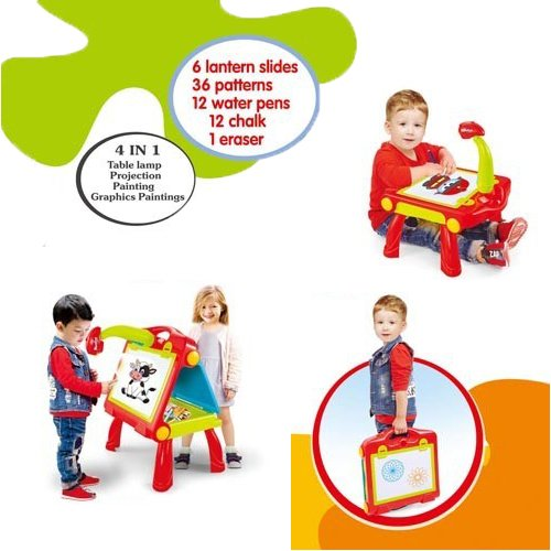 Kids Activity Table With Projector For Study Drawing