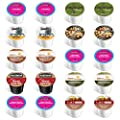 20-count - Limited Edition Winter Flavors Coffee Variety Pack for Keurig® K-cup® Brewers - Featuring Maple Sleigh, Santa's White Chistmas, Chocolate Chip Cookie, S'mores, Chocolate Buttercream, Guy Fieri Chocolate Mint, Peanut Butter Banana Cream Pie, I