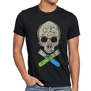 style3 Heisenberg Skull T-Shirt Mens bad tv Breaking