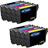 2x Epson 18XL Daisy (T1816) High Capacity Compatible Black (T1811), Cyan (T1812), Magenta (T1813) and Yellow (T1814) Printer Ink Cartridges For use with Epson Expression Home XP-402 405 405WH 412 415 Printers by Ink Trader