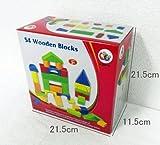 Go Go Toys (ゴーゴートイズ) 木のおもちゃ つみき 知育玩具 2歳~ 【積み木 カラー 54ピース】