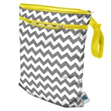 Planet Wise Wet/Dry Diaper Bag, Gray Chevron