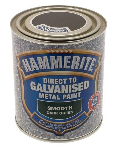 Hammerite 5097053 750ml Direct to Galvanised Metal Paint - Dark Green