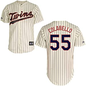 Chris Colabello Minnesota Twins Alternate Ivory Replica Jersey by Majestic by Majestic