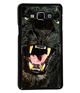 PRINTVISA Black Panther Premium Metallic Insert Back Case Cover for Samsung Galaxy A7 - A700F - D6017