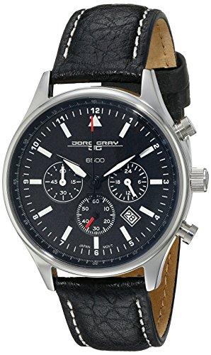 Jorg Gray JG6500-21 - Reloj cronógrafo de cuarzo para mujer, correa de cuero color negro