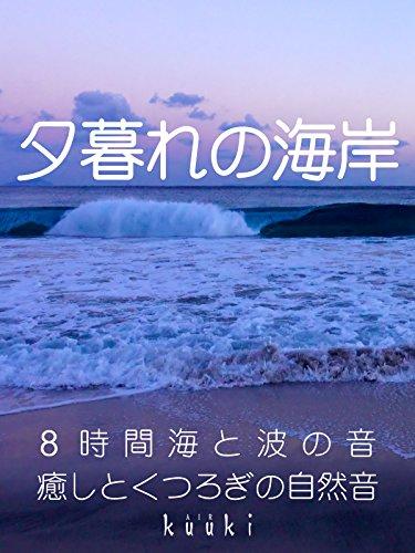 夕暮れの海岸 8時間海と波の音 癒しとくつろぎの自然音