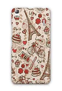 Cover Affair Paris Printed Back Cover Case for Lenovo K3 Note