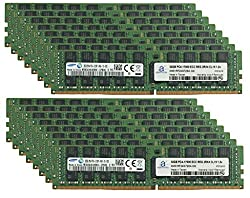 Samsung Original 512GB (16x32GB) Memory Upgrade for Servers DDR4 2133MHz PC4-17000 ECC Registered Chip 2Rx4 CL15 1.2V DRAM Adamanta