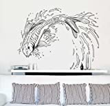 Vinyl Wall Decal Sticker Koi Fish Jumping Out of Pond #367