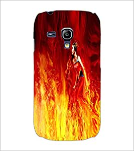 PRINTSWAG FIRE GIRL Designer Back Cover Case for SAMSUNG GALAXY S3 MINI
