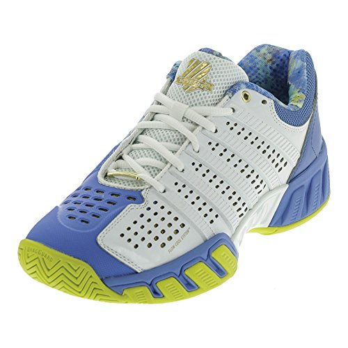 K-Swiss Women's Bigshot Light 2.5 50th Tennis Shoe, 50th/White/Ultramarine/Gold, 8.5 M US