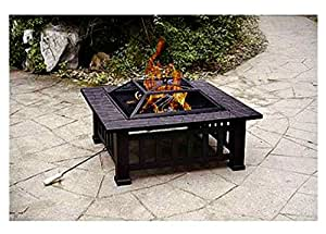 Patio Fire Pit with Cover. 32 Inch