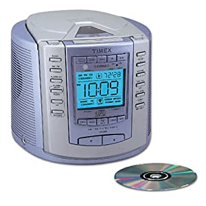 timex t600l cd stereo clock radio with nature sounds metallic blue discontinued. Black Bedroom Furniture Sets. Home Design Ideas