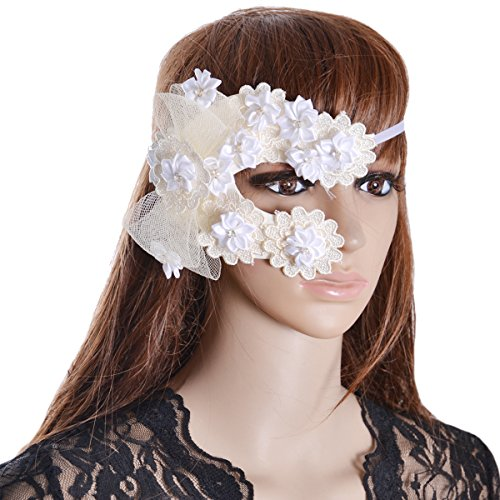 Sexy Lace Eyes Mask Masquerade Mask for Party Fancy Dress Costumes White