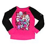 Monster High - Ghoul Kids Rule - Girls Raglan Sequin Sleeve Shirt (Large)