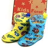 KidsForet キッズフォーレ 車いっぱい レインシューズ 長靴 イエロー 19cm