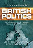 Introduction to British Politics (0745620965) by Dearlove, John