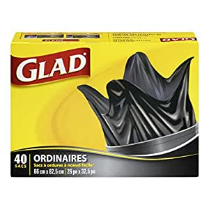 Glad Easy-Tie Regular Outdoor Garbage Bag 75 L 40 Count