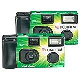 Cámaras fotográficas desechables Fujifilm Quicksnap Flash 400, con flash. Paquete de 2 (incluyen rollo)