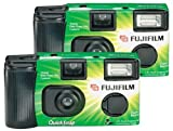 Photography - Fujifilm Quicksnap Flash 400 Single-Use Camera With Flash (2 Pack)