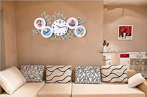 t mida home eisen besetzte foto rahmen wandgestaltung uhr uhr kreative mode wohnzimmer. Black Bedroom Furniture Sets. Home Design Ideas