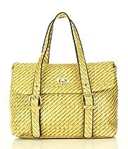Noble Mount Weave Texture Looker Satchel Handbag - Chai
