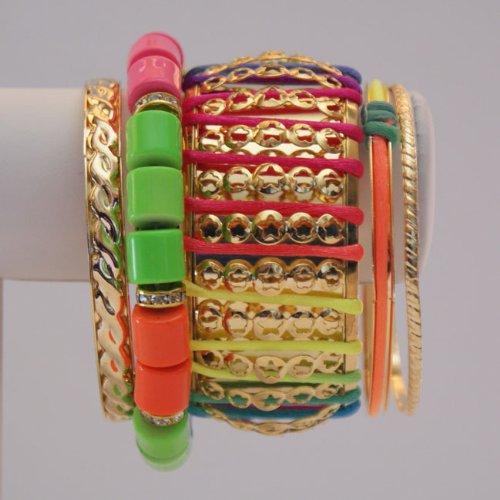 Neon Gold Bracelets (Set 5)