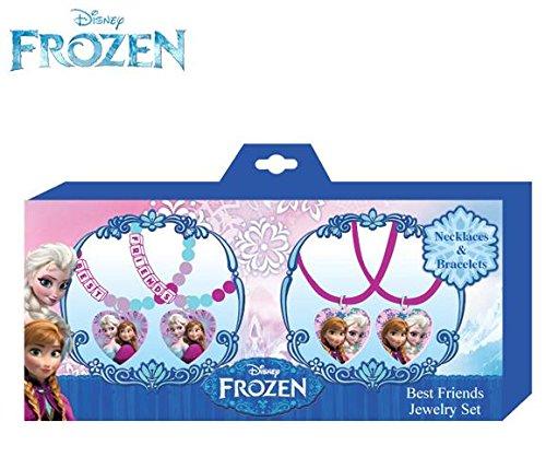Disney Frozen Best Friends Necklace and Bracelets Jewelry Se