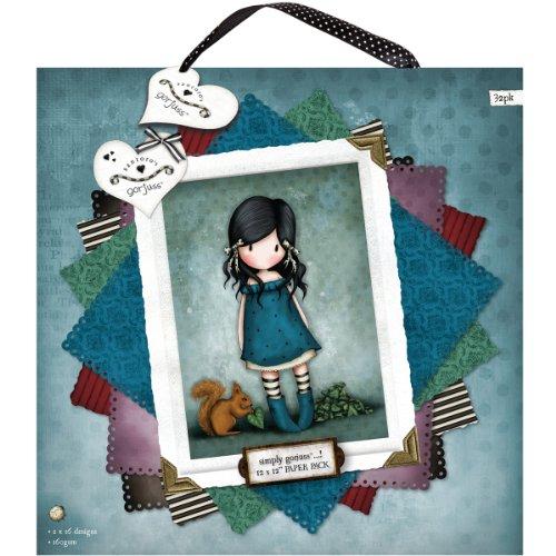 "Docrafts Single-Sided Paper Pack 12""X12"" 32/Pkg-Santoro Gorjuss, 16 Designs/2 Each"