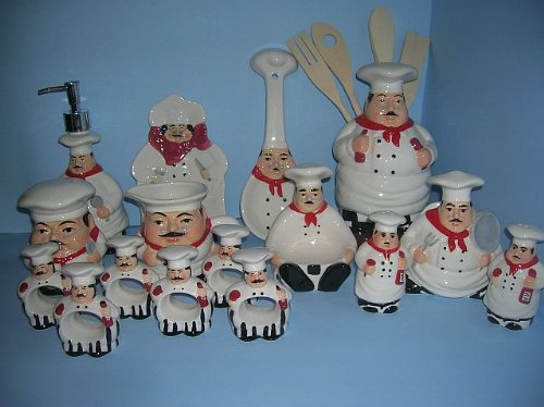FAT Bistro Chef 3d Ceramic Kitchen 20 Pcs Set NEW