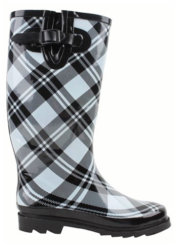 SunDaddy Women's Natural Rubber Rainboot and GardenBoot with Adjustable Calf Width and Removable Insole,