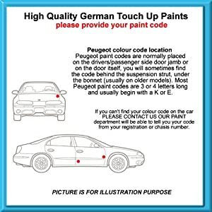 Peugeot High Quality German Car Touch Up Paint 30Ml Ele * Bleu Ciel From 80-91 by MACPACARPARTS