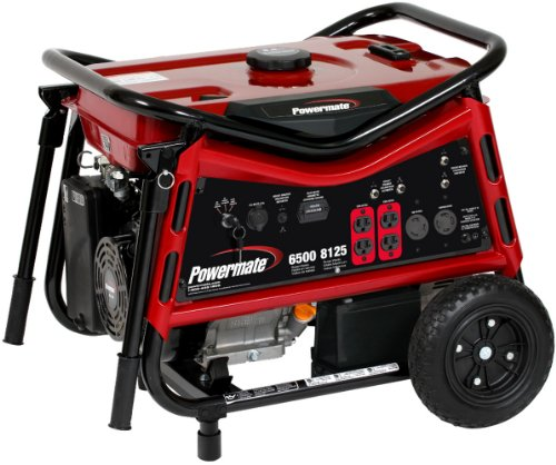 PowerMate Powermate PM0106507 Vx Power Series 8,125 Watt 420cc Gas Powered Portable Generator With Electric Start