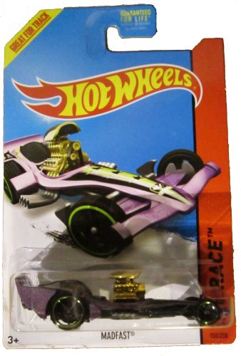 Hot Wheels 2014 Hw Race Thrill Racers Purple Madfast 152/250
