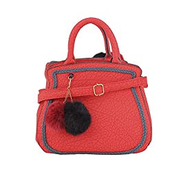 Jewlot Orange PU Women's Handbags 1082