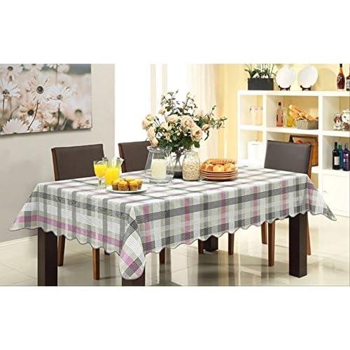 食卓が華やぐ 防水 撥水 テーブル クロス 137cm x 183cm (タイプB)