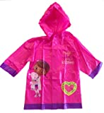 Disney Doc Mcstuffins Girl's Rain Slicker Size Medium 4/5