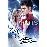 "The Amazing Spider-Man Spiderman Poster Photo 12x8"" Signed PP Andrew Garfield Emma Stoneby 5 Star Prints"