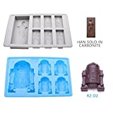6 PCS Chocolate Molds Silicone Ice Cube Candy Trays For Star Wars Lovers