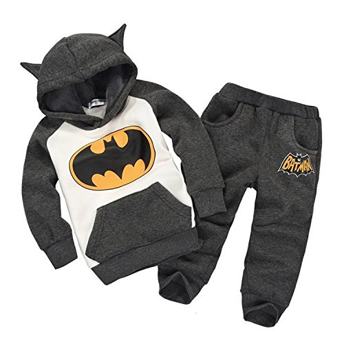 Getuback Baby Batman Clothing Sets Children Spring Tracksuits 18M Gray