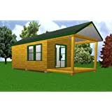 12'x 20' Starter Cabin w/ Covered Porch Plans