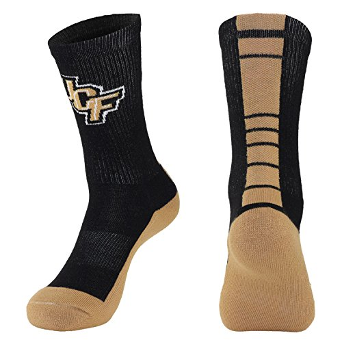 NCAA Central Florida Golden Knights Women's Champ Performance Crew Socks, Black, Medium (Central Florida Knights compare prices)