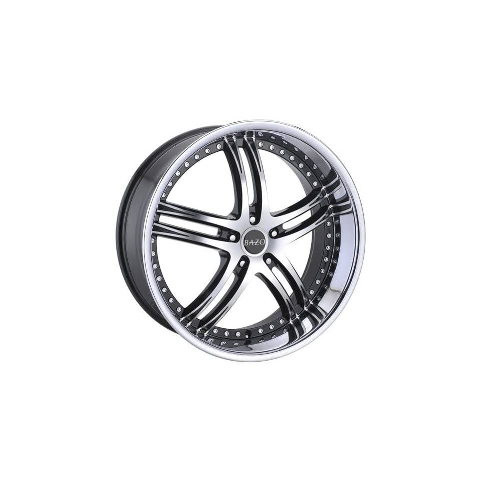 Bazo B502 22 Machined Black Wheel / Rim 5x115 with a 18mm Offset and a 73.00 Hub Bore. Partnumber B502 2295511518BS