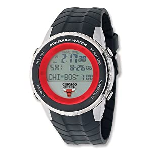 Mens NBA Chicago Bulls Schedule Watch by Jewelry Adviser Nba Watches