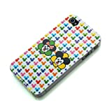 iPhone4 用 キュービックマウスバックパネルケース 液晶保護フィルム付属 (ミッキー&ミニー) RX-IJK466MM