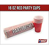 Rote Becher, Red Party Beer Pong Cups 16 oz. 473 ml rot, US College Style - (100 Stück/pieces)