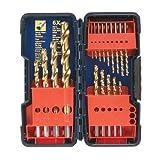 Bosch TI18 18-Piece Titanium Twist Drill Bit Set with Plastic Case ~ Bosch